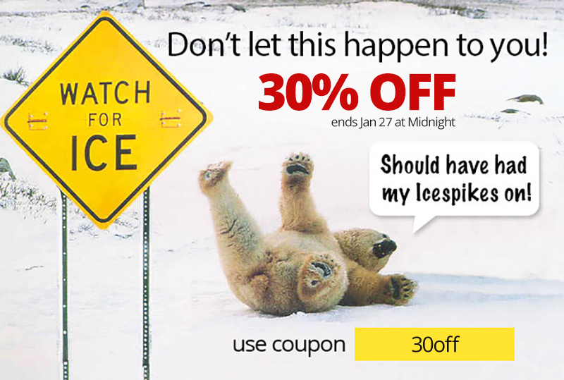 30% off Icespikes