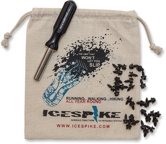 Icespike packaging with icespikes and install tool