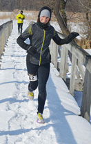 Icespike Runner In Snow