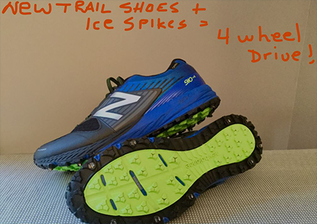 Prevent mud from collecting in your trail running shoes with icespikes